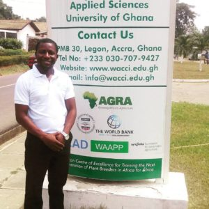 Benjamin Aboagye Danso, an agricultural research scientist